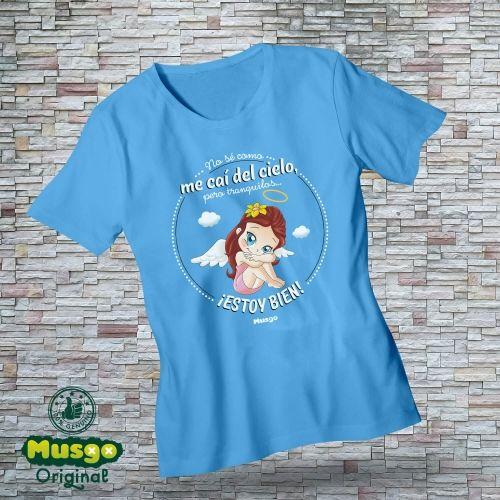 """Camiseta """"Me caí del cielo"""""""