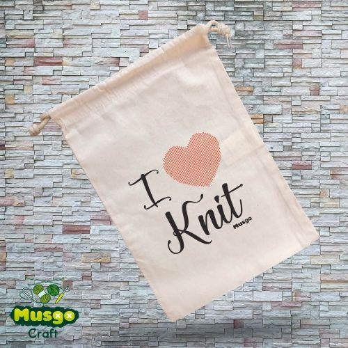 """Bolsa """"I love Knit"""""""
